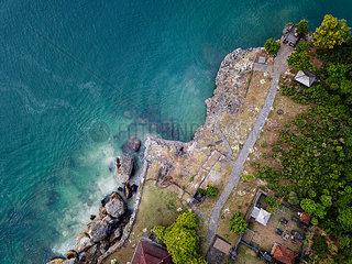 Indonesia  Bali  Aerial view of coast