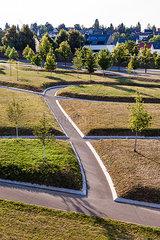 Germany  Baden-Wuerttemberg  Stuttgart  puplic park  ways