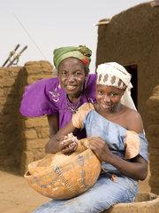 Traditionelles Dorf in der Sahelzone