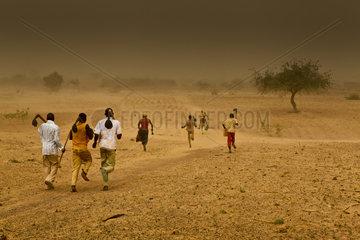 Sandsturm in der Sahelzone
