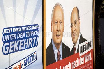 Real-Werbung und Wahlplakat