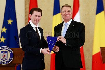 ROMANIA-BUCHAREST-IOHANNIS-AUSTRIA-EU PRESIDENCY