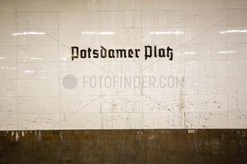 Germany  Berlin  Potsdamer Platz subway station