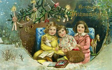 Herzlichen Weihnachtsgruss  Weihnachtskarte  1918