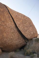 Rock formation in Joshua Tree National Park  California  USA