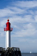 Lighthouse at Trouville-sur-Mer  Normandy  France