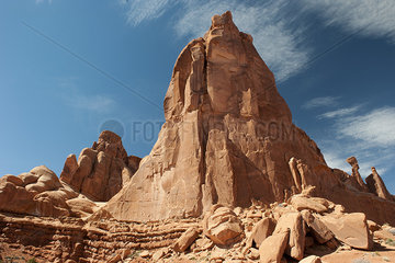 Rock formation in Arches National Park  Utah  USA