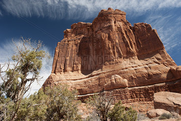 Butte in Arches National Park  Utah  USA