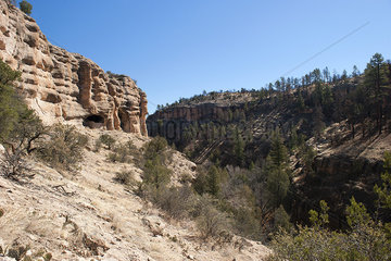 Gila Cliff Dwellings National Monument  Gila Wilderness  New Mexico  USA