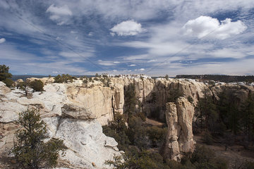 Sandstone bluffs at El Morro National Monument  New Mexico  USA