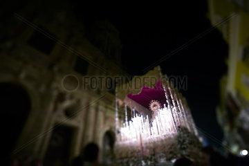 Sevilla  Spanien  Skulptur der Jungfrau Maria bei einer Prozessionen zur Semana Santa