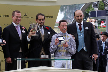 Royal Ascot  Winners presentation. Baitha Alga with Frankie Dettori up wins the Norfolk Stakes