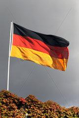 Hoppegarten  Deutschland  Nationalfahne der Bundesrepublik Deutschland