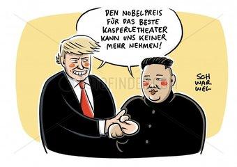 Trump und Kim wecken hohe Erwartungen an Gipfeltreffen