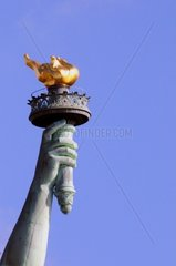 USA  New York City  Statue of Liberty  detail of the torch