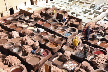 MOROCCO-FEZ-TANNERY