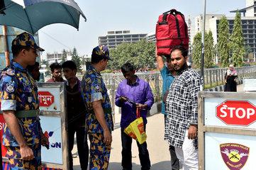 BANGLADESH-DHAKA-TIGHTENED-AIRPORT-SECURITY