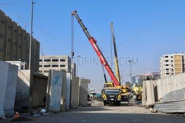 IRAQ-BAGHDAD-GREEN ZONE-WALL REMOVAL