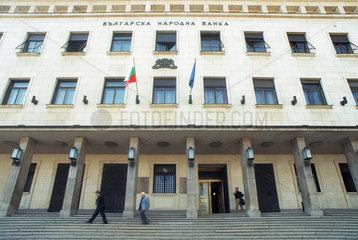 Fassade der Bulgarischen Nationalbank in Sofia