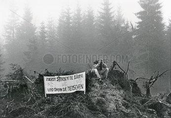 Protest gegen das Waldsterben  1986