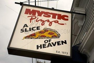 USA  Mystic  Connecticut  Mystic Pizza restaurant sign