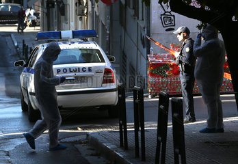 GREECE-ATHENS-EXPLOSION-CHURCH