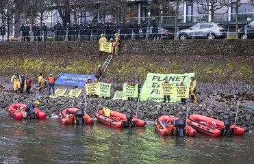 Greenpeace - Aktion zum G20 - Gipfel in Bonn