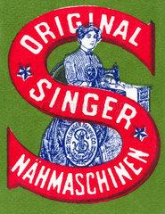 Singer Naehmaschinen  Emblem  um 1898
