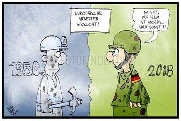 Die Bundeswehr will Personal aus der EU anwerben