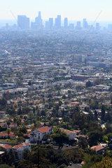 Los Angeles  USA  Blick auf die Haeuser von Downtown Los Angeles