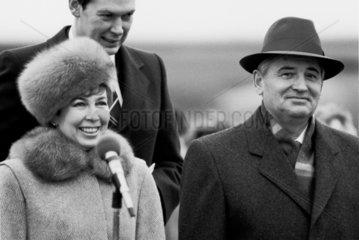 Michail und Raissa Gorbatschow  Genf  1985