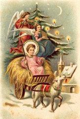 Christkind  Weihnachtskarte  1898