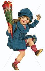 ABC-Schuelerin  erster Schultag  um 1927