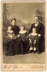 amerikanische Familie  Auswanderer  USA  1890