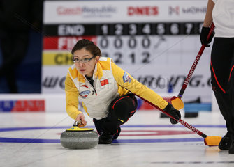 (SP)CZECH REPUBLIC-PILSEN-CURLING-OLYMPIC QUALIFICATION-WOMEN-CHINA VS FINLAND