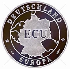 ein ECU  europaeische Waehrungseinheit  1991