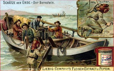 Bernsteintaucher  Bernstein  um 1900
