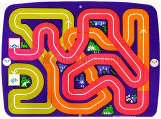 das erste Videospiel  Spielfeld-Folie  1972