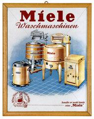 Miele Waschmaschinen  Werbetafel  um 1939