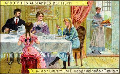 Tischmanieren  um 1900