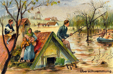 Ueberschwemmung  Hochwasser  um 1905