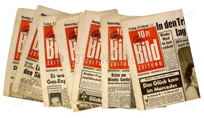 alte Bildzeitungen  1955  1956