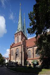 Berlin  Deutschland  Nikolaikirche im Nikolaiviertel in Berlin-Mitte