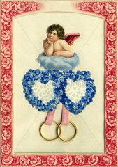 zwei Herzen  zwei Ringe  1909