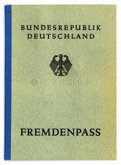 Fremdenpass  fuer Auslaender in Deutschland  1951