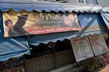 Werbeplakat fuer Haryy Potter Buch / Sukhothai / Thailand / SUEDOSTASIEN-RE