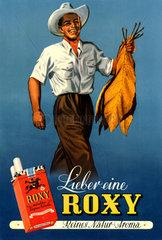 Zigarettenwerbung Roxy  um 1949