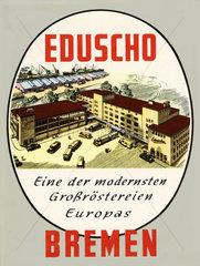 Eduscho Kaffee  Firmenansicht  1954