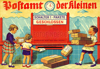 Kinderpost Paketschalter  um 1929