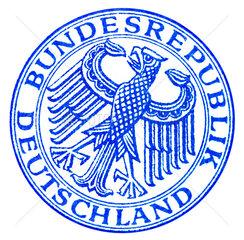alter Stempel Bundesrepublik Deutschland  1951
